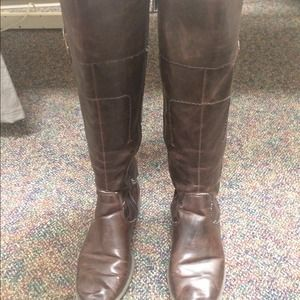 Dark brown riding boots