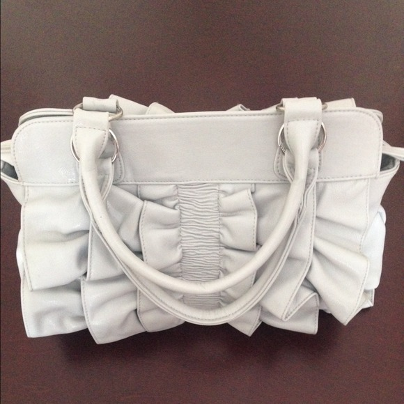 Bags - Grey Bow Handbag