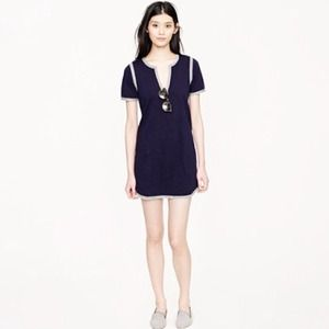 J. Crew Knit Tunic Dress with Marled Trim