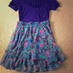 Dresses & Skirts - Floral high waisted skirt!