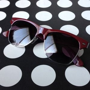 "Burgundy ""Waymax"" Sunnies"