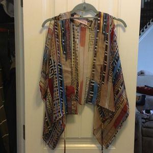 Tops - Boho tribal print vest