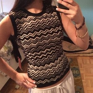 Missoni Tops - Missoni for Target Black & White Sweater Tank NWT