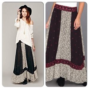 SOLD Free People Printed Sushi Voile Heirloom Maxi