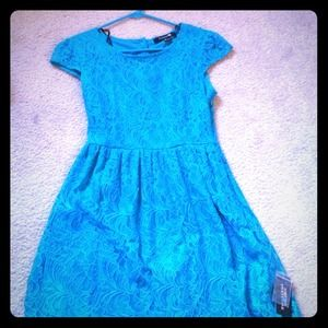 Cute blue lace dress!