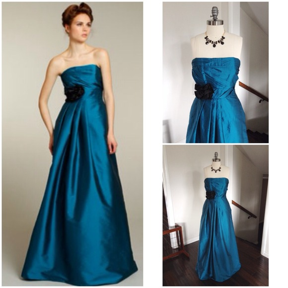 Jim Hjelm - ❌SOLD❌PEACOCK BLUE TAFFETA FORMAL DRESS W/POCKETS ...
