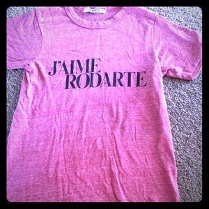 Rodarte Tops - Rodarte red love/hate tshirt XS