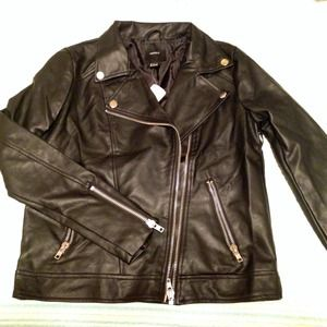  Faux Leather Moto Jacket 