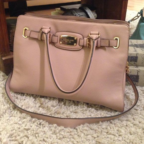 4f36d215cce7 Michael Kors Blush Pink Leather Hamilton Handbag. M_5330d7424c47c005850068d0