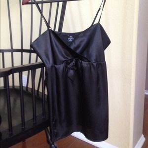 Tops - DONATED Black Satin strappy top