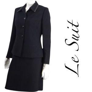 Le Suit Dresses & Skirts - NWT black LeSuit 2 pc dress suit with trim sz 10P