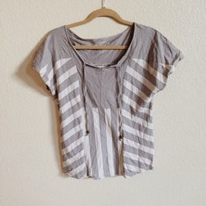 Tops - Striped Peasant Top