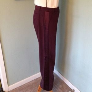 Deep blackberry tuxedo pants