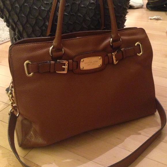 6f42e0dbe177 Michael Kors Cognac Leather Hamilton Handbag. M_5330ed313ddfd40c592f9103