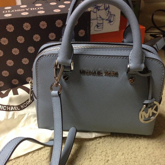 73% off Michael Kors Handbags - Michael Kors Jet Set small satchel ...