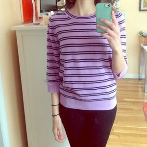 Striped JCREW cashmere sweater
