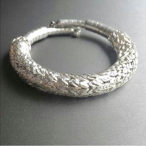Jewelry - LAST ONE! Trendy/edgy metallic silver spiky bangle