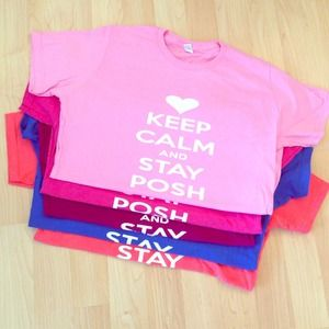 Louis Vuitton Tops - Keep calm and stay posh t's LARGE