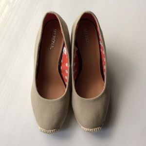 Target Shoes - Tan espadrille wedges