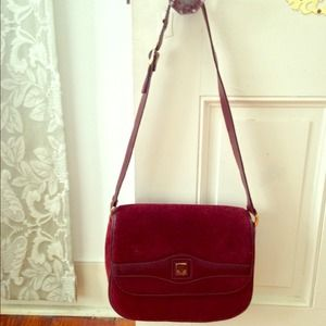 Vintage Lanvin Burgundy leather bag.