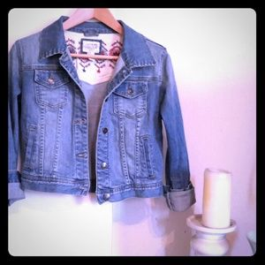 Forever 21 cropped heritage Jean jacket