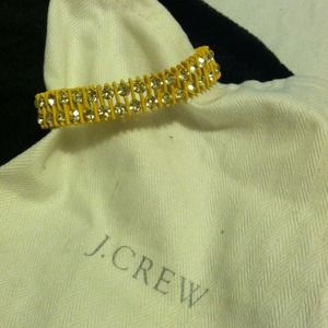 J. Crew Jewelry - J. Crew yellow and crystal stretch bracelet