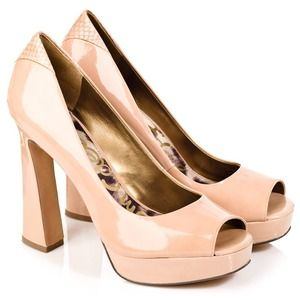 Sam Edelman Shoes - Sam Edelman Blush Peep Toe Pumps