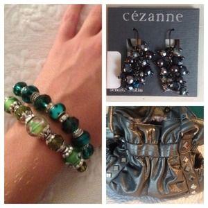 Handbags - Bag, Earrings, Bracelet Bundle