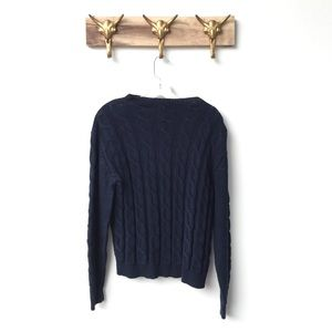 Anthropologie Sweaters - Navy Cable-knit Sweater