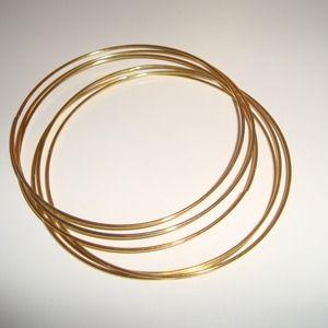 Gold tone bangle bracelets