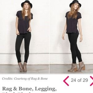 rag & bone Denim - rag & bone plush twill legging - NAVY color