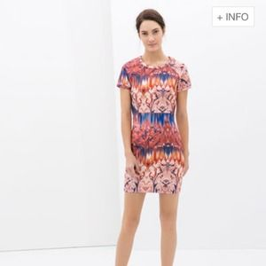 Zara Neoprene Printed Dress