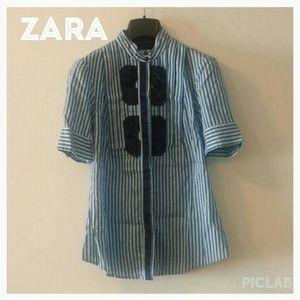 Zara Woman button up shirt