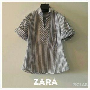 Zara Basic button up shirt