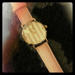 Rose gold and blush pink watch