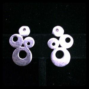 UNIQUE DESIGN Silver 925 Stud Earrings