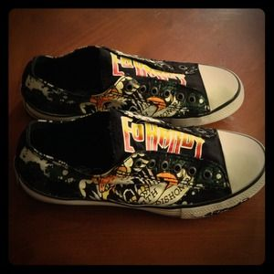 ED Hardy  Canvas Sneakers Size 9