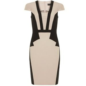 Dorothy Perkins Stone/Black Art Deco dress