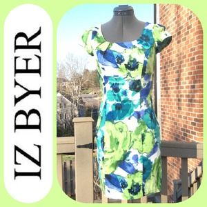 IZ BYER Dresses & Skirts - 💥 IZ BYER 💕Bright abstract floral dress💕