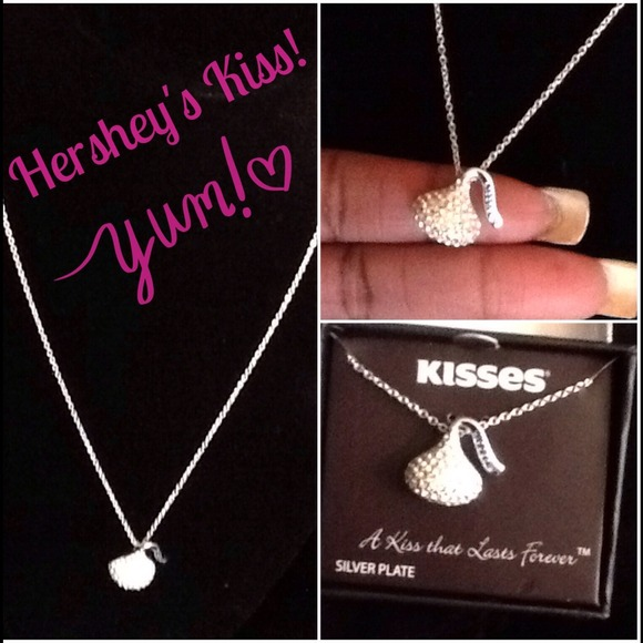 Hersheys jewelry kiss crystal necklacefirm poshmark hersheys kiss crystal necklace firm mozeypictures Image collections