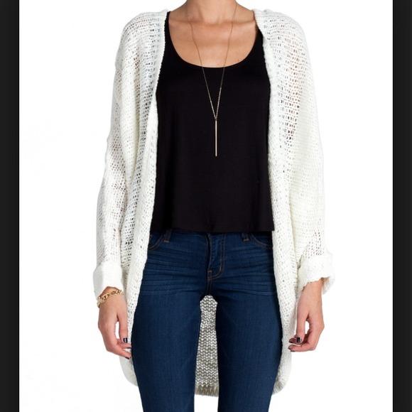 70% off Cotton On Sweaters - Kimono style cream open knit cardigan ...