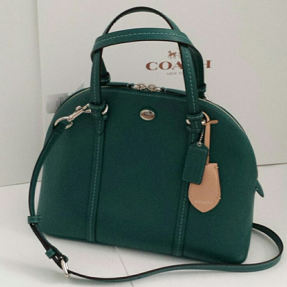 Coach Bags - FLASH SALE NEW Coach Cora domed leather satchel