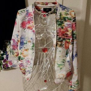 H & M colorful  zipper bomber jacket