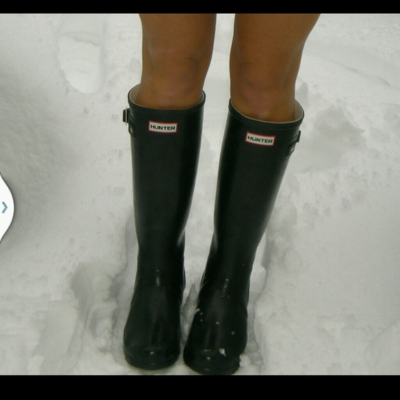 52 off hunter boots boots hunter boots black matte from