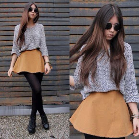 American Apparel Dresses   Skirts - American Apparel Camel Corduroy Circle  Skirt e7ea42696