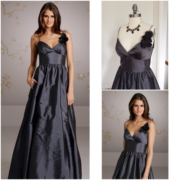Charcoal Gray Party Dress