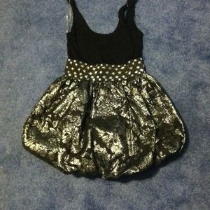 Dresses & Skirts - Black and silver bubble dress