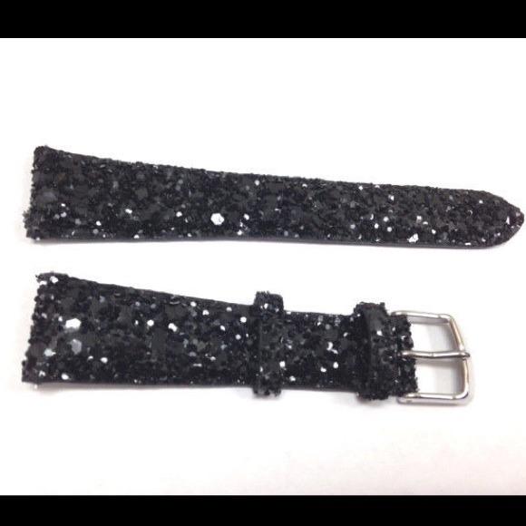 1d8c832e6a5 NEW AUTHENTIC MICHELE 20mm BLACK GLITTER BAND ❤️