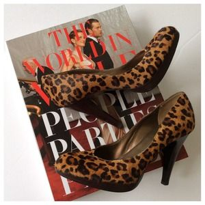 Nine West Shoes - nine west leopard heels size 8