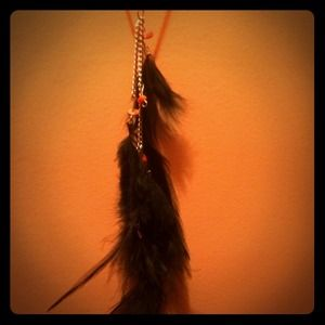 feathered necklace 